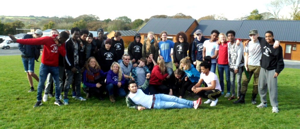 group of young people on NCS