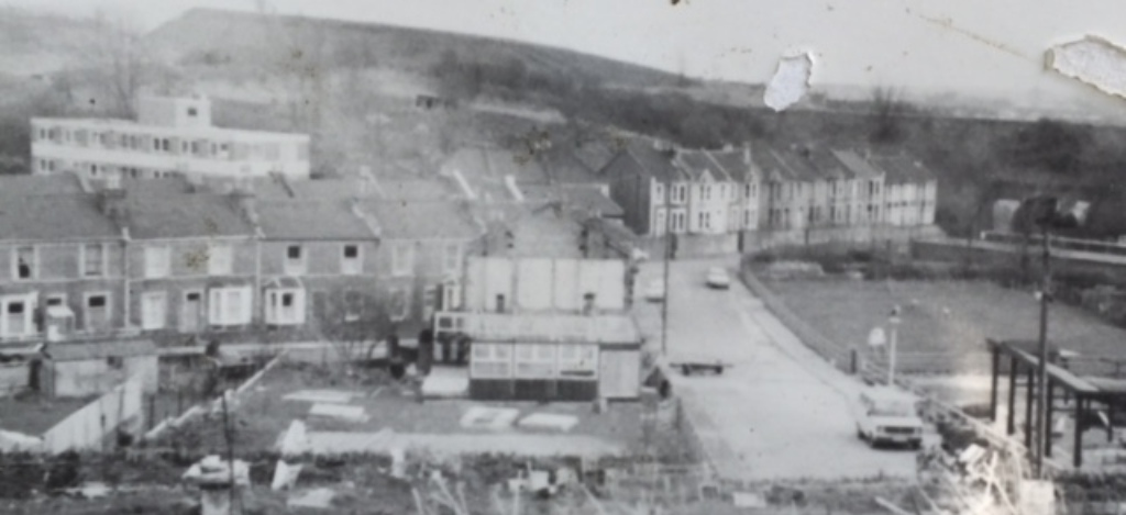 old black and white photograph of farm site