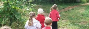 Class on a tour or discovery trail