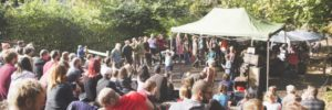 outdoor theatre and crowd