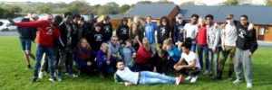 young people on NCS trip